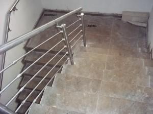 Staircase showing handrails